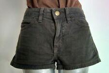 "AMERICAN APPAREL denim shorts hot pants size 25"" khaki 1.5""inseam"