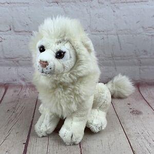 """FAO Schwarz Plush White Baby Lion Stuffed Animal Toy 2014 7"""" Toys R Us"""""""
