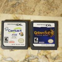 Nintendo DS LOT ✨CONTACT (Earthbound Fans!) + GOLDEN SUN DARK DAWN✨ Great RPGs!