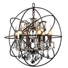 FOUCAULT'S ORB 6 candelabra Crystal Chandelier Rustic Lamp Antique Atom