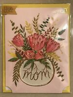 Papyrus - Mother's Day greeting card Mom bird & Quill Flowers - New in packaging