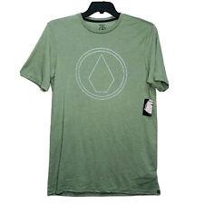Volcom Pin Stone Modern Fit Short Sleeve T-Shirt Tee Green Men's Medium M NEW