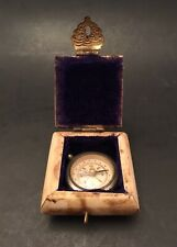 Vintage Compass Lined Bone Box Chest Hinged Lid Brass Fittings Pirate Nautical