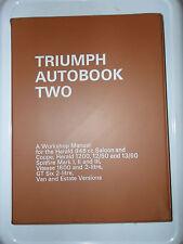 TRIUMPH HERALD SPITFIRE VITESSE GT6 WORKSHOP MANUAL VAN GT SIX 6 SALOON COUPE