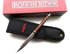 Slim Design Fixed Blade Knife Stacked Leather Handle w/Sheath Self Defense Shiv