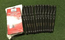13 X MacGregor Golf Grips Black Rubber Plus Brampton DIY Grip Kit