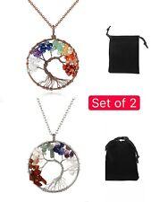 """7 Chakra Tree of Life Perfect Pendant™ BALANCING ENERGY REIKI 22"""" Chain"""