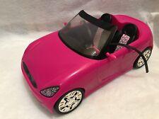 Barbie Hot Pink Convertible Sport Car Vehicle barbie Print Seat Mattel 2009