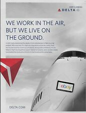 DELTA AIRLINES 747-400 WE WORK IN THE AIR,BUT WE LIVE ON THE GROUND RECYCLING AD