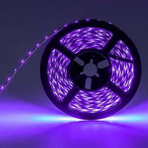 Black Light LED Strip Glow Party NO Adapter 16.4FT 300LEDs 12V Flexible Blackl