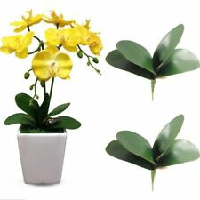 PU Fake Flowers Green Leaves Silk Leaf Butterfly Orchid Leaf Artificial