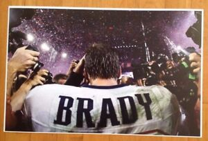 Tom Brady Jersey Buccaneers Battle Field Paparazzi  Frameable Poster 17 X 11