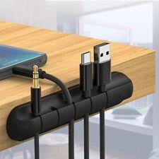 Organizador para Cables de Silicona Soporte Escritorio 3 5 7 Clips para Cable