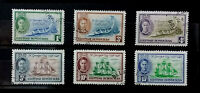 BRITISH HONDURAS 1949 KGVI ST GEORGE'S CAY ANNIV SET OF 6  B097  Free Shipping