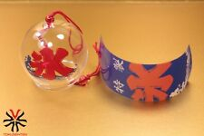 GLASS WIND CHIME FURIN CLOCHE A VENT VERRE BALANCE MADE IN JAPAN ZEN KOORI NEW