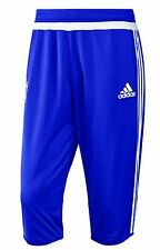 NEW ADIDAS MEN'S CHELSEA FC THREE QUARTER SOCCER PANTS~SIZE LARGE~ #S12087
