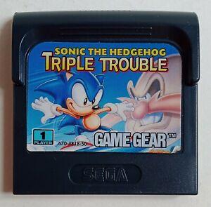 Sonic the Hedgehog Triple Trouble Sega Game Gear cartouche seule
