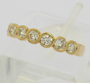 Brillant Ring in aus 18 kt 750 Gelb Gold mit Brilliant Brillanten Diamant Memory