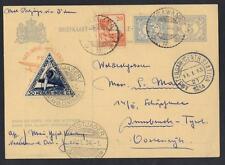 NETHERLANDS INDIES 1934 KRAWANG AMSTERDAM UPRATED AIR MAIL POSTAL CARD