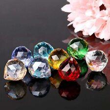 8pcs Crystal Glass Chandelier Light Ball Prisms Suncatcher Drops Pendants 20MM
