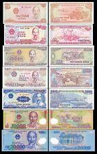 Vietnam 200-20,000 Dong BrandNew Banknotes set 7PCS
