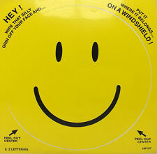 """Large Yellow Smiley Face Emoji 6"""" Premium Decal Sticker Many Uses Easily Removed"""