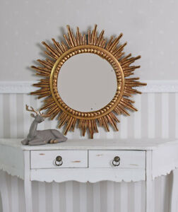 Baroque Mirror XXL Star Gold Mirror Sun Antique Wall Mirror 80cm