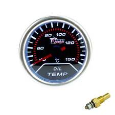 "2"" 12V Car Universal Smoke Len LED Pointer Oil Temp Temperature Gauge Meter 52mm"