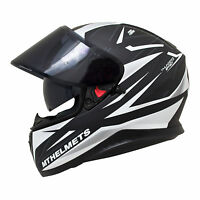 MT Thunder 3 SV Effect Ltd Edition Matt Crash Helmet Motorcycle Motorbike White