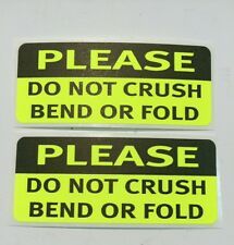 500 1.25 x 3 PLEASE DO NOT CRUSH BEND OR FOLD  NEON YELLOW PLEASE DO NOT CRUSH