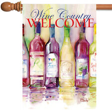 Toland Reds and Whites Wine Country Welcome 28 x 40 Regional House Flag