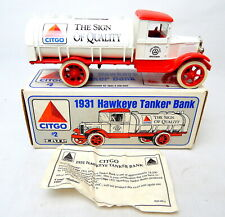 1R ERTL 1931 Hawkeye Tanker Truck Metal Bank 1/34th Scale Boxed