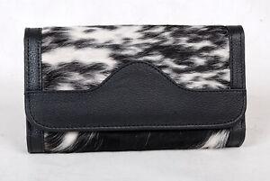 100% Real Cowhide Wallet Real Leather Hair ON Western Ladies Wallets  SA-7110