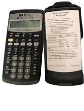 Texas Instruments BAIIPlus Financial Calculator Works