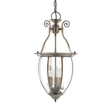 Searchlight 3 Light Bowed Glass Brass Ceiling Fitting Lantern Pendant Chandelier