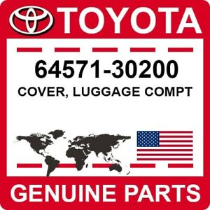64571-30200 Toyota OEM Genuine COVER, LUGGAGE COMPT