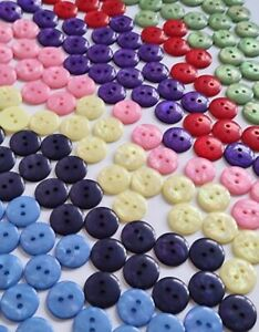 20mm or 15mm Iridescent Plastic 2 Hole Buttons - Choice of Colours & Pack Sizes