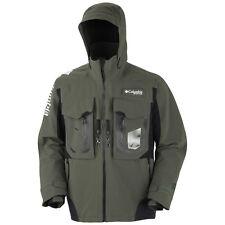 COLUMBIA PFG FireStorm WATERPROOF Breathable FISHING Hood JACKET Coat MEN sz XXL