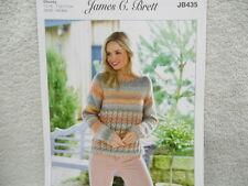 James C Brett - Ladies Chunky Sweater Knitting Pattern - JB435