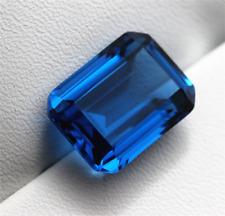 RICH ROYAL BLUE SAPPHIRE UNHEATED 3.28ct VVS1 8x10MM EMERALD CUT LOOSE GEMSTONE