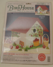 "Simply Wood Bird House Kit: Apple Orchard Paint-By-Number 6"" x 6 1/2"" x 6"" New"