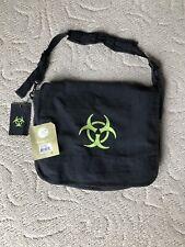 Black Bio-Hazard Vintage Classic Messenger Bag Military Shoulder Bag NWT