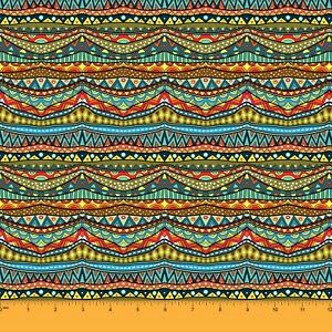 """Indian Rayon Viscose Fabric 58"""" Wide Multicolour Tribal Print Sewing Material"""