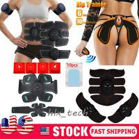 EMS Abdominal Hip Lift Muscle Training Gear Stimulator Toning ABS Workout Belt