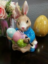 Blue Sky Clayworks 2018 Easter Bunny Rabbit Tabletop Figurine Decor
