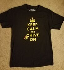 Chicago Blackhawks Keep Calm and Chive On Men's Large Shirt Fast Shipping