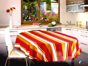 Tablecloth Table Red Dining Room  Patio Living Room Decor Fabric