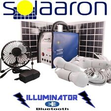 Solaaron Portable All-In-One Essential Solar Power Kit w/ bluetooth speaker