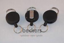 3 X Schlüsselanhänger Aufroller Rollmatic Jojo arretierbar schwerer Auszug 50mm
