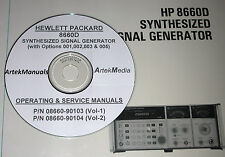 HP  8660D OPERATING &  SERVICE MANUALS  *2 VOLUME SET*
